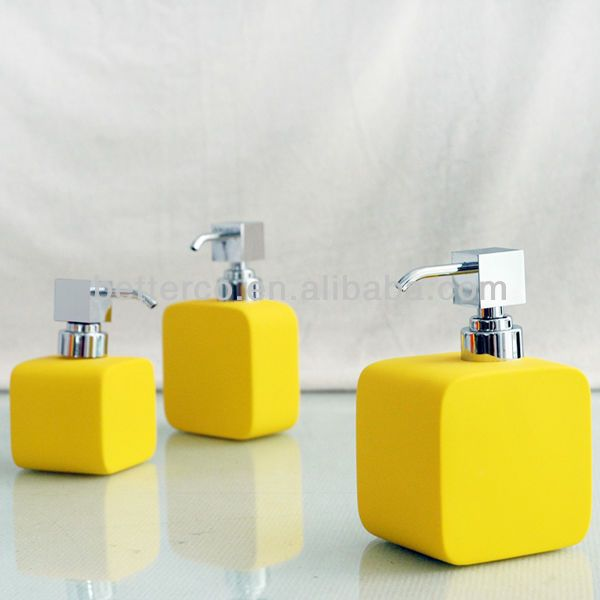 Yellow bathroom sets best home design 2018 for Bathroom accessories yellow