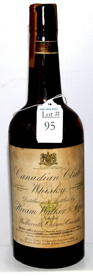 1914 Unopened Bottle of Canadian Club Whiskey