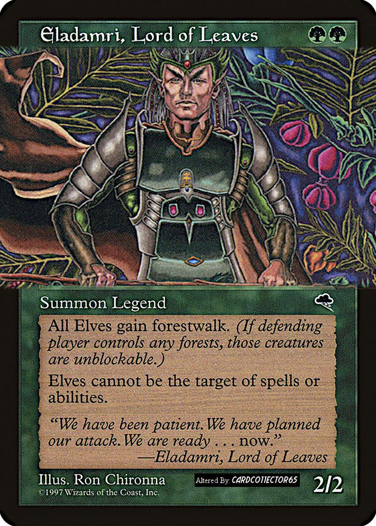 Eladamri lord of leaves extended art mtg tempest in
