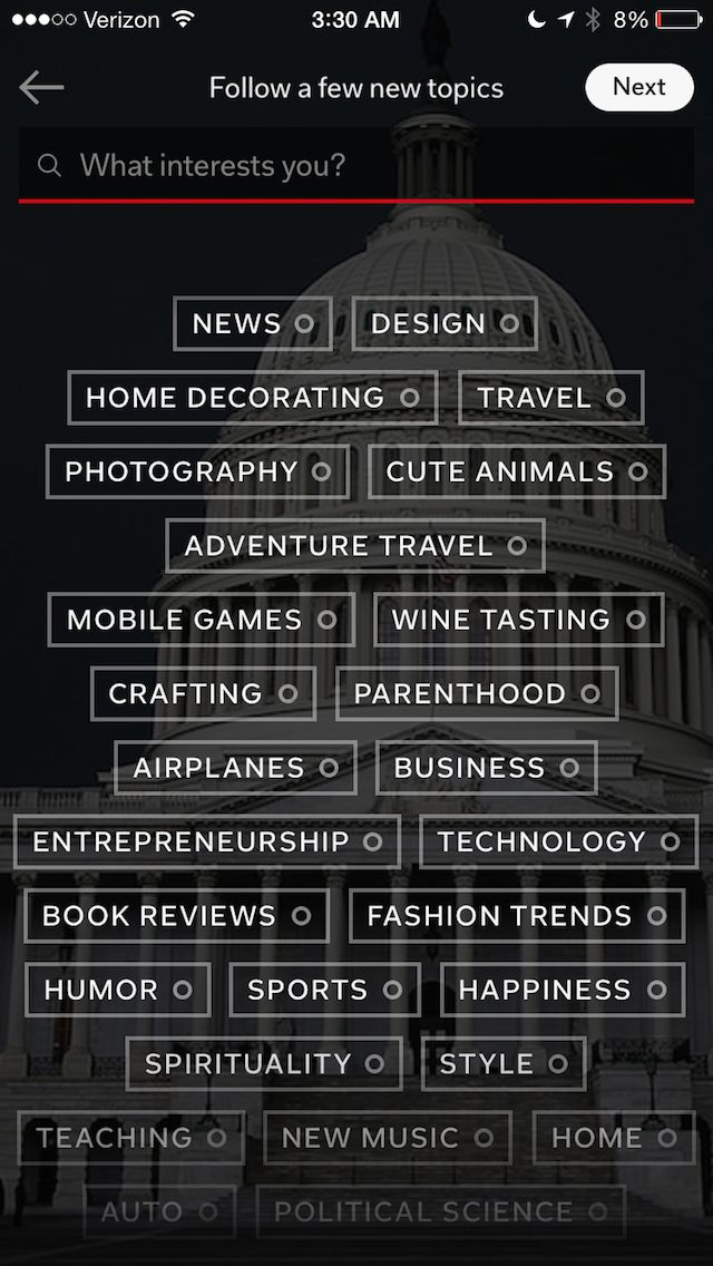 Updated Flipboard #ui nice fade at the bottom