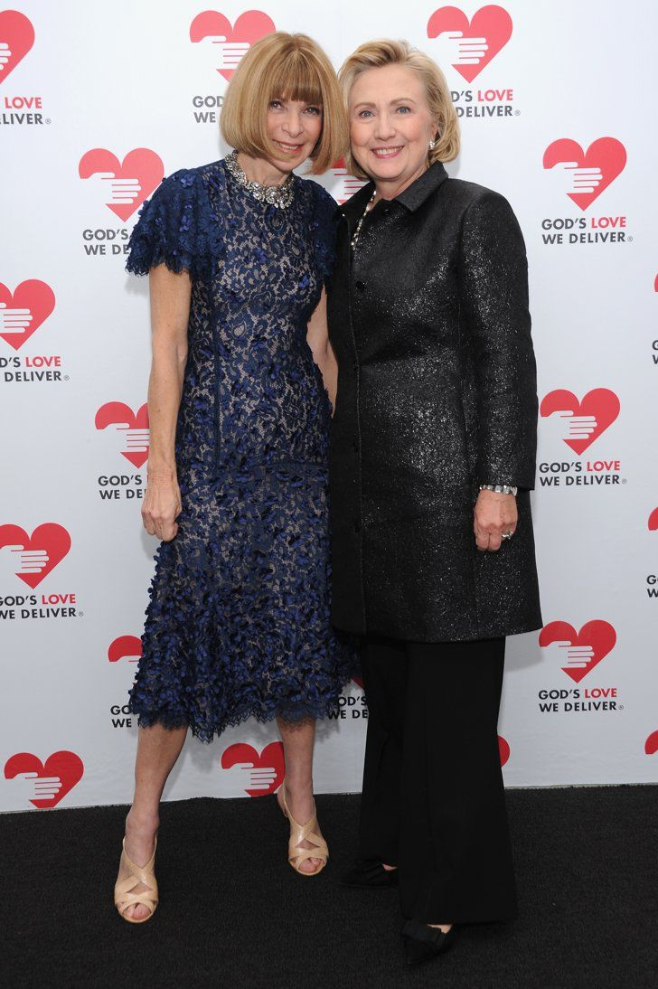Pin for Later: An Homage to the Many Pantsuits of Hillary Clinton Power Player How's this for fashion cred? Hillary posed for a pic with Anna Wintour.