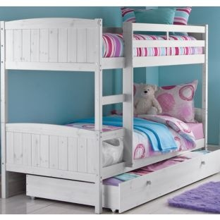 Best Classic Bunk Bed Frame With Storage Whitewash Bed 400 x 300