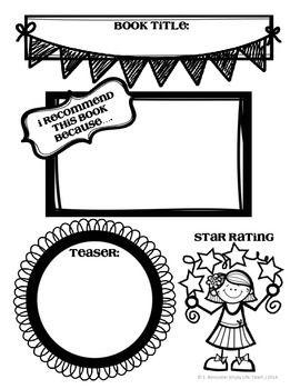 BOOK RECOMMENDATION FORMS - TeachersPayTeachers.com