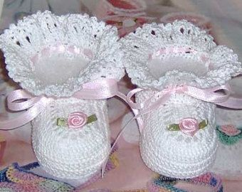 Crochet patucos bebé Pixes poco por mycrochetboutique en Etsy