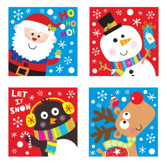 Jennie Bradley - JENNIE BRADLEY-CHRISTMAS CHARACTER SQ CARDS
