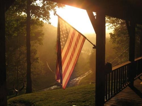 FreedomBuy A House, Blessed America, Dreams Home, Flags, Red White Blue, Southern Porches, God Blessed, Country Life, Front Porches