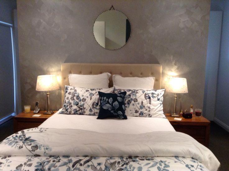 Metallic paint feature wall kylie 39 s bedroom pinterest - Metallic blue interior wall paint ...