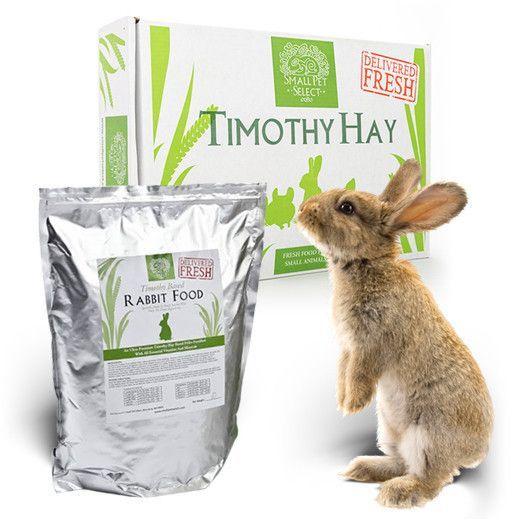 Timothy Hay + Rabbit Pellets