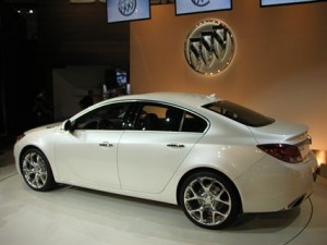 2012 Buick Lacrosse - the car Sarah wants just because of the name. :)