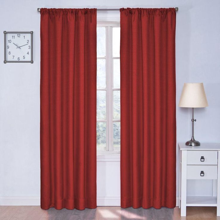 Eclipse Kendall Blackout Window Curtain Panel In Chili