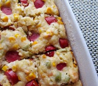 Torta de Arroz com Salsicha