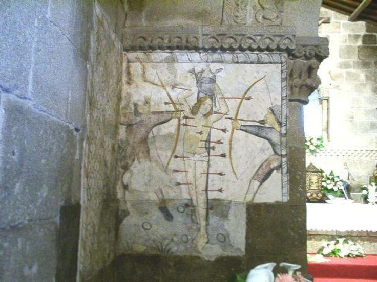 """São Sebastião: """"il santo ha il viso di una fanciulla piuttosto che quello di ufficiale dell'esercito romano."""" Pagina del sito del Patrimonio Cultural."""
