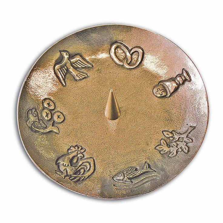 Dekorativer #Leuchter aus #Bronze mit den 7 #Sakramenten als Motiv