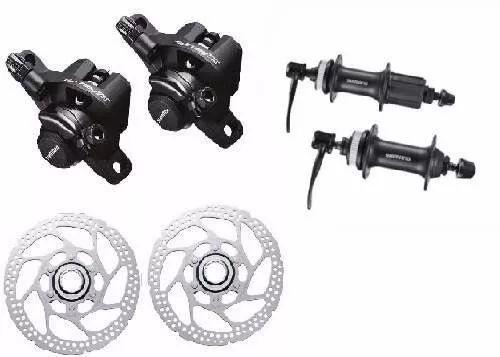 kit freio disco mecânico shimano tx805 rotor rt54 cubos m435