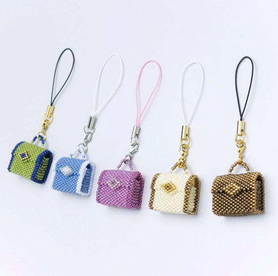 PDF Beading tutorial beaded bag pattern bag charm key