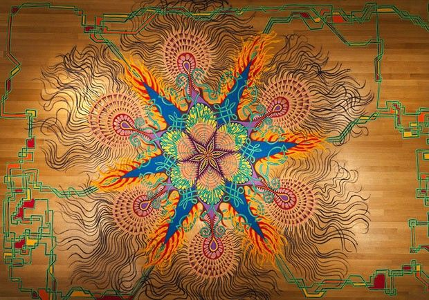 As mandalas coloridas de Joe Mangrum