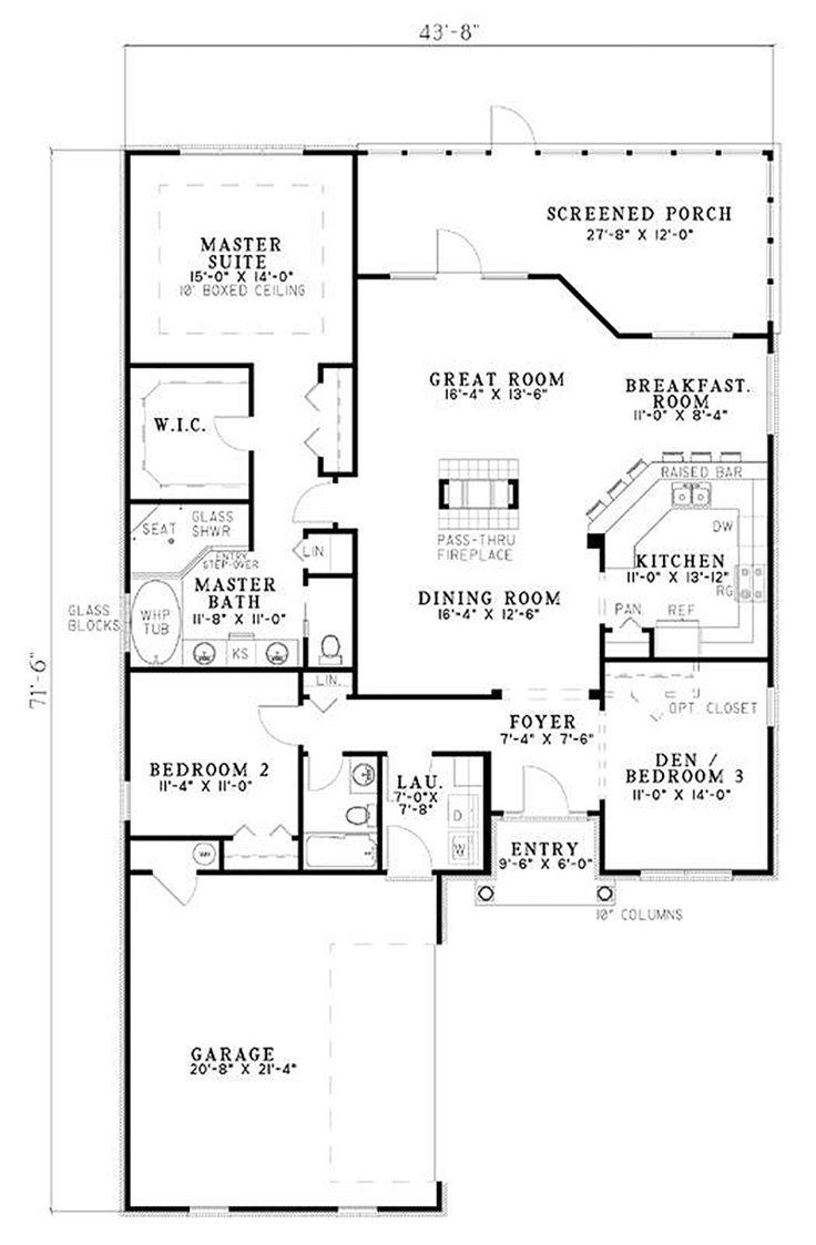 Wondrous 17 Best Images About House Plans On Pinterest House Floor Plan Largest Home Design Picture Inspirations Pitcheantrous