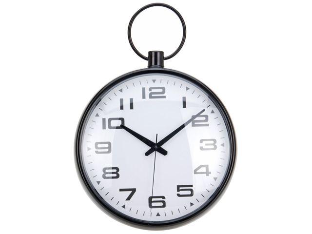 Klasyczny zegar z przejrzystymi i dużymi cyframi. Oryginalny design z pewnością świetnie wpasuje się do każdego pomieszczenia - pokoju gościnnego, biura, kuchni lub sypialni. Wyposażony w wygodne i proste w użyciu pokrętło, które pozwoli w łatwy sposób nastawić aktualny czas. Ø 30 cm