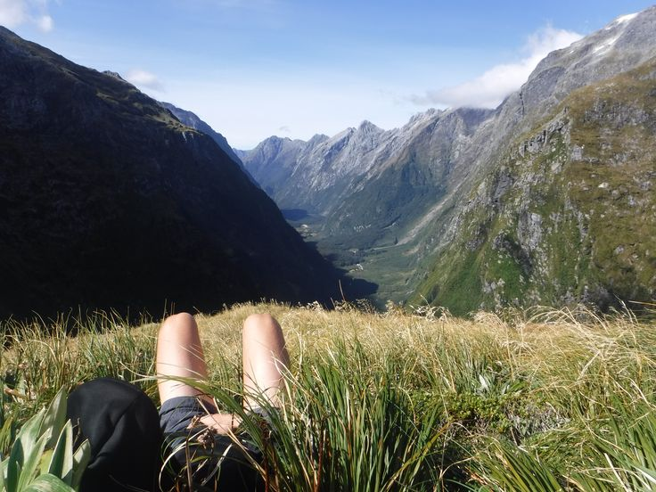 Relaxing on the stunning Milford Track.