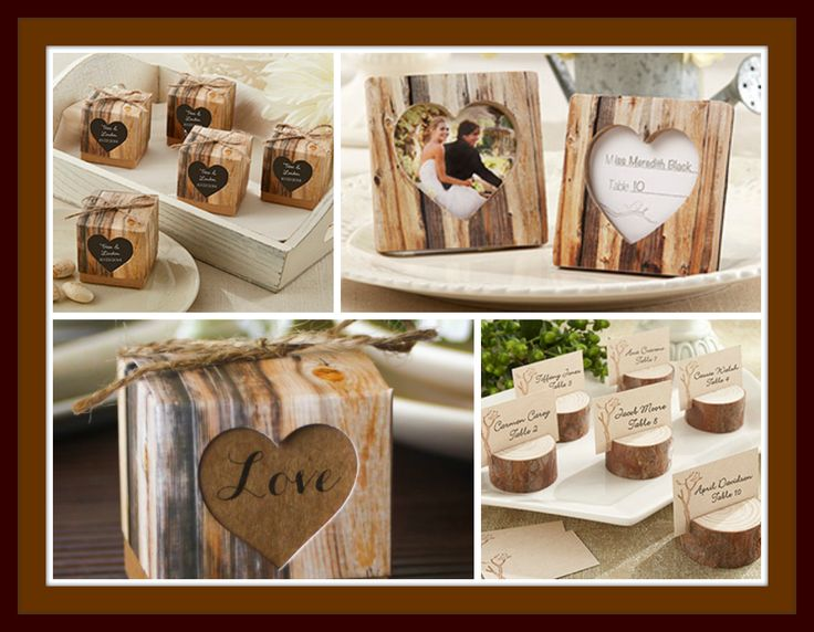 rustic wedding favors favor boxes place card holders