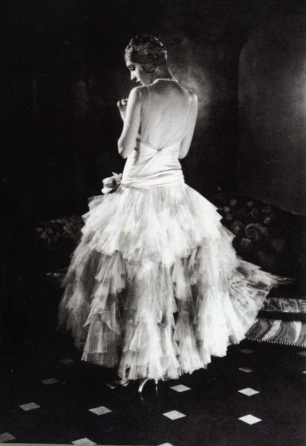 Marion Moorhouse - 1928 - Vogue - Chiffon Chanel Dress