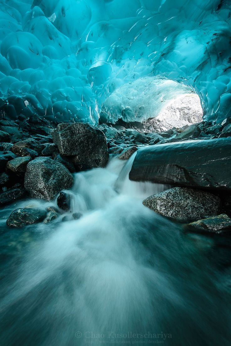 Mendenhall Ice Caves - Juneau, Alaska - You can actually walk under a glacier.