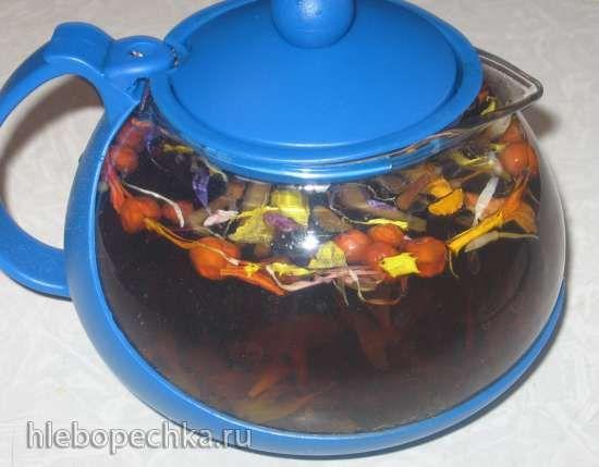Чай из листьев садовых деревьев