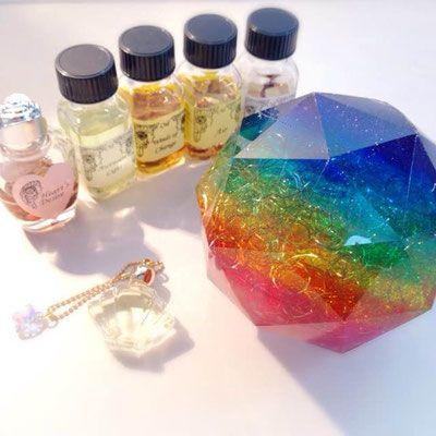 オルゴナイト&メモリーオイルセット - Celestite レムリアン・ヒーリング®、オルゴナイト、アンシェントメモリーオイル、天然石Jewelry