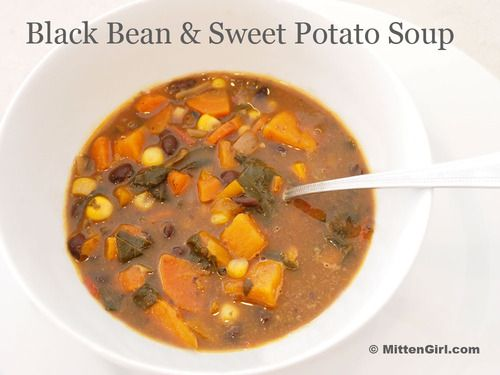 Recipe: Sweet Potato and Black Bean Soup | Healthy Recipes | Pinterest
