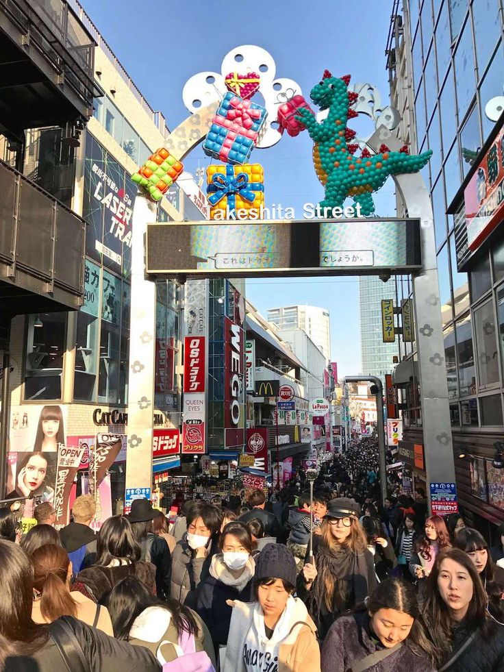 Takeshita Dori Street in Harajuku, Tokyo, Japan