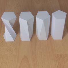 FOR HOOKS: twisted pentagonal prisms