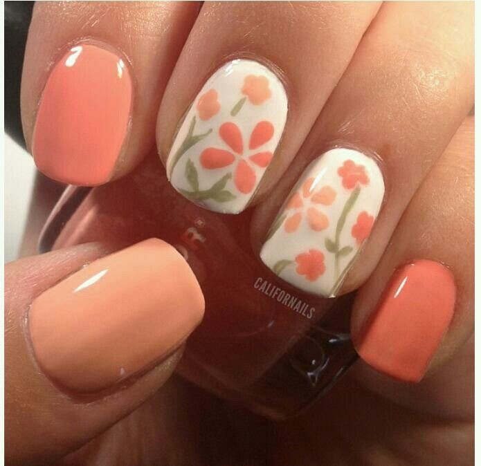 Simple and Sweet Nail Arts for Beginners -- Cute Flowers Nails