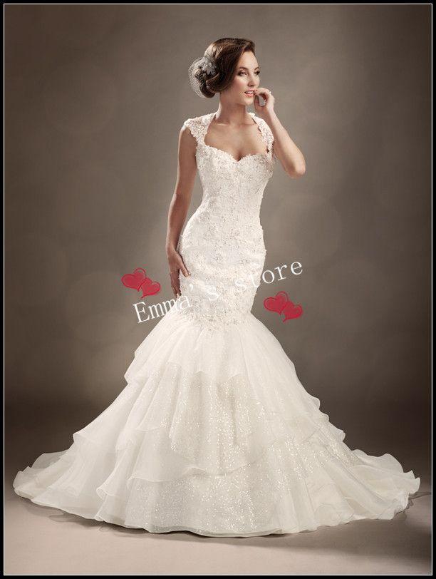 spanola style wedding dresses | pizzo moda 2014 nuovo arrivo sexy sirena sexy pavimento posteriore ...