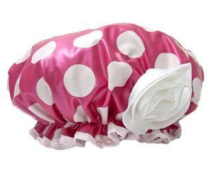 Bella il Fiore Bath Diva Shower Cap, Hot Pink with White Dots and Flower by Bella il Fiore. $17.99. Hot Pink with White Dots and Flower. Slip on Bella's pretty bath and shower cap and soak in style. Every diva needs her down time...a tub full of suds is the perfect escape. Keep you hair dry and frizz free while you wash away the worries of the day.