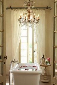 bath favorite-spaces-insideBathroom Design, Bathroom Interior, Bath Tubs, Romantic Bathroom, French Doors, Bathtubs, Dreams Bathroom, Bubbles Bath, Rose Petals