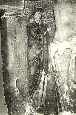 Anonimo , Sotio Alberto - scuola - sec. XIII - Croce dipinta: Madonna - particolare, prima della rimozione delle ridipinture