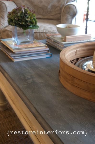 Faux Zinc Video Tutorial   Inspired By A Zinc Top Coffee Table That I Found  At Pottery Barn, I Created A Faux Zinc Finish For Wood To Mimic Those High  End ...