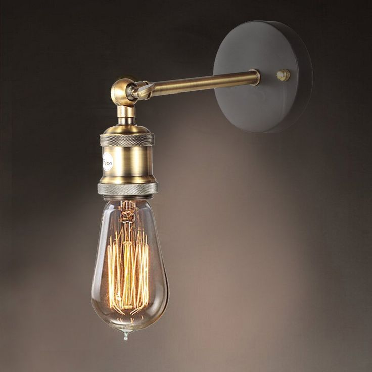 Fuloon Retro style Edison Wall Light Mini Wall Sconces Brass Finished Wall lamp - - Amazon.com