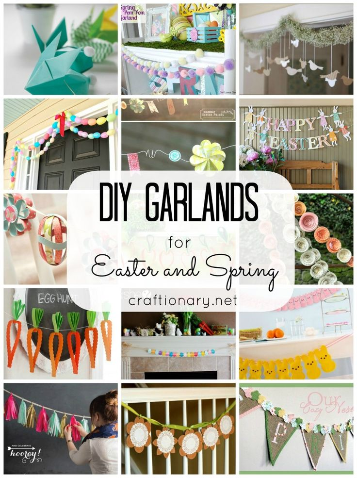 20 DIY Garlands for Easter and Spring - Craftionary