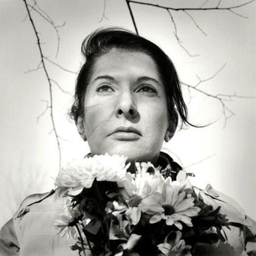 Marina Abramović, Portrait with Flowers, 2009