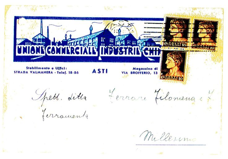 #postcard #1942 #Asti #Italy #mail #vintage