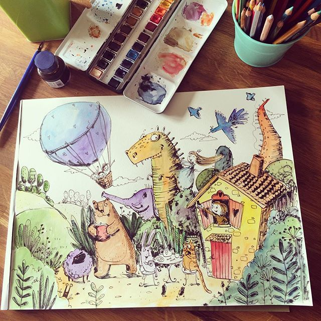Мой дом для #денькрокодила  my house Fodor drawing marathon. Seriously. This is pretty much my house #sketchbook #childrenillustration #illustrationartists #topcreator #art_we_inspire #arts_help #иллюстрация #детскаяиллюстрация #скетчбуки #рисуйкаждыйдень