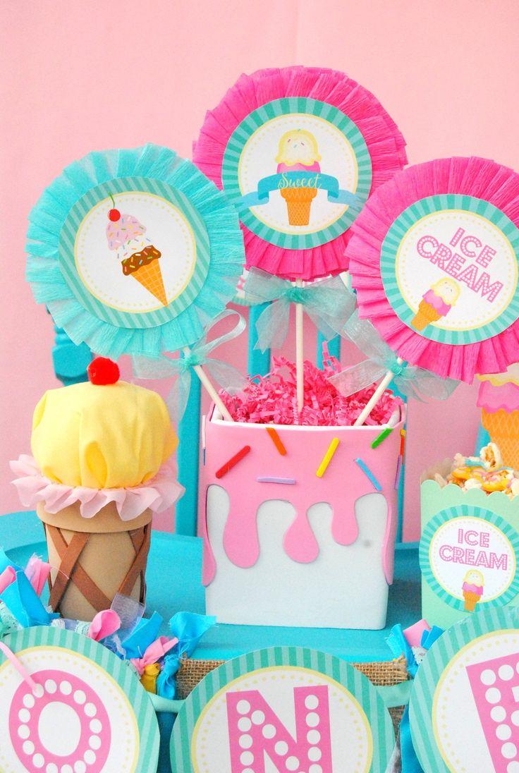 Ice Cream Party ICE CREAM Printables Ice Cream Sweet