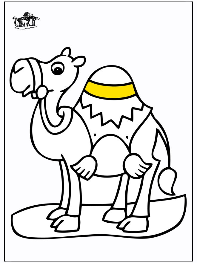 free-animals- Camel -printable-coloring-pages-for-preschool