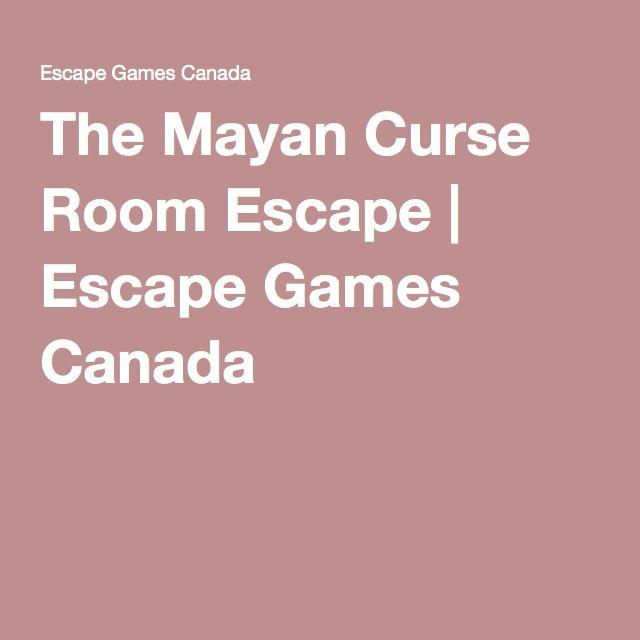 The Mayan Curse Room Escape   Escape Games Canada