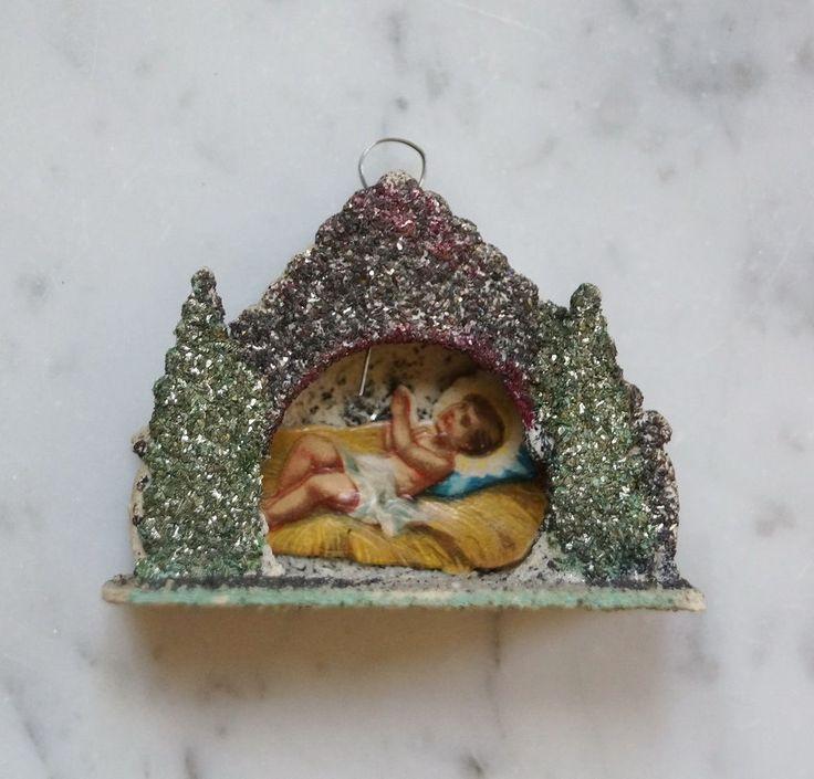 Christbaumschmuck - Ornament aus Karton - Original um 1920/1930  (# 2889)