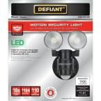 Defiant 180 Degree 2-Head Black Motion Activated Outdoor Flood Light-DFI-5936-BK - The Home Depot