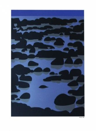 'Kawaroa' by Michael Smither. A reef near New Plymouth, NZ. Screenprint of Kawaroa Stage 3, 900NZD.