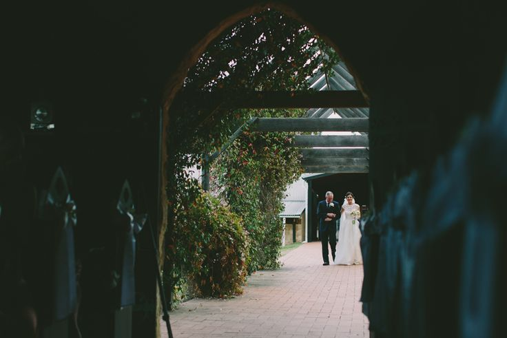 Bridal entrance Peppers Creek Chapel. Hunter Valley Wedding. Image: Cavanagh Photography http://cavanaghphotography.com.au
