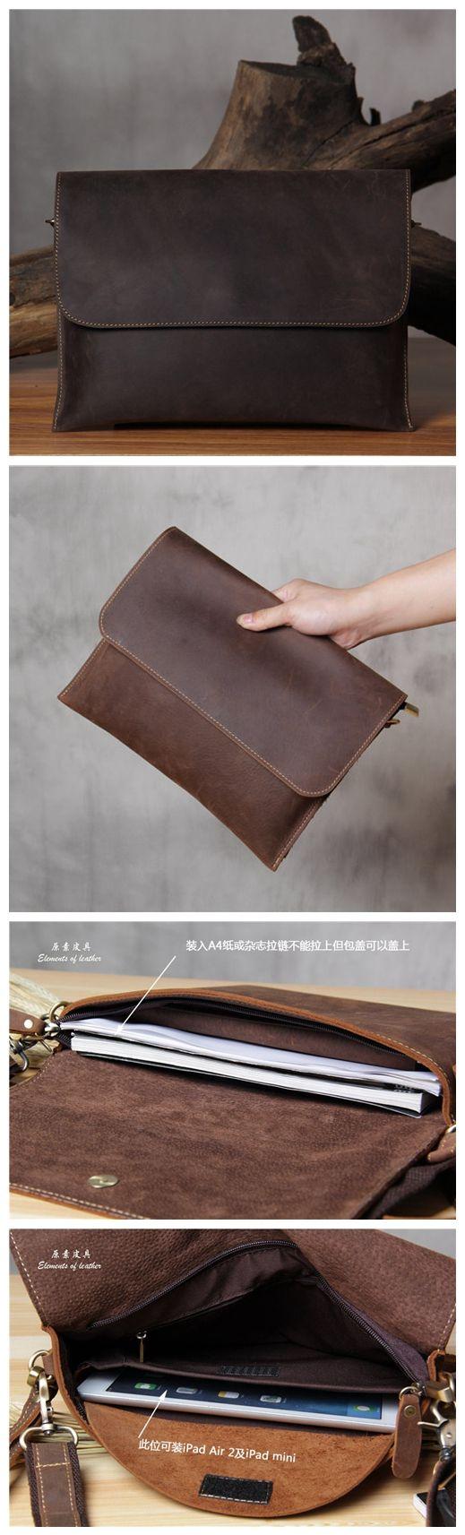 Handmade Genuine Leather Messenger Shoulder Bag, Satchel Bag More